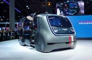 VWの自動運転車のコンセプト車(2017年フランクフルト国際自動車ショー)