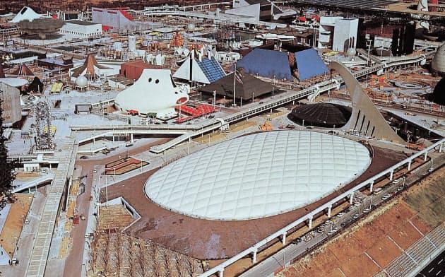 アメリカ館のエアドームは従来の2倍近い大きさだった