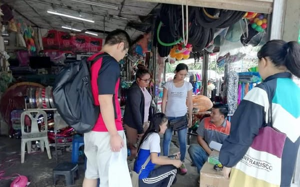 新潟とメコン諸国の学生が就業体験などのグループワークに取り組む