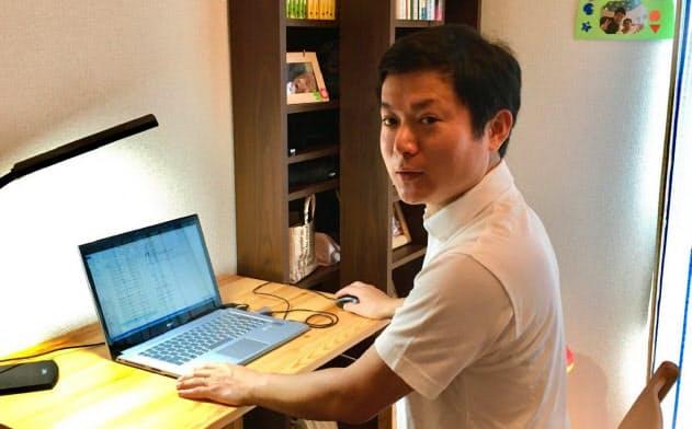 18年7月から育児目的の在宅勤務制度を活用するエンジニアの鈴木さん