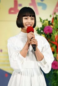NHK連続テレビ小説「おちょやん」のヒロインを務める杉咲花さん(30日、大阪市)=共同