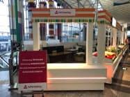 仙台空港に設置した商品の受け取りのための専用カウンター