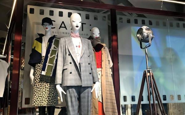 8月に立ち上げた新ブランドも百貨店向けの出店が中心となった