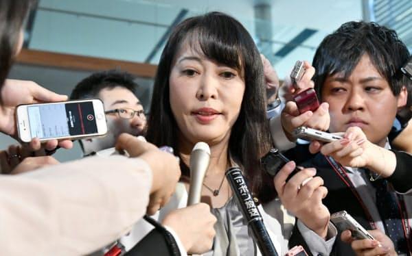 河井法相の後任に決まった森雅子氏(31日午前、首相官邸)