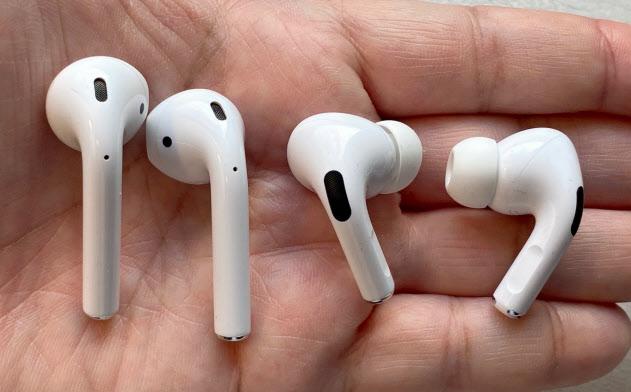 耳に引っかける形だった旧来のAirPodsと異なり、新版のAirPods Proは耳の穴に差し込む形に変わった