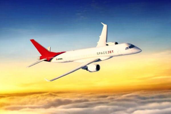機体開発の遅れで認証取得の作業が長引いている(スペースジェットのイメージ)