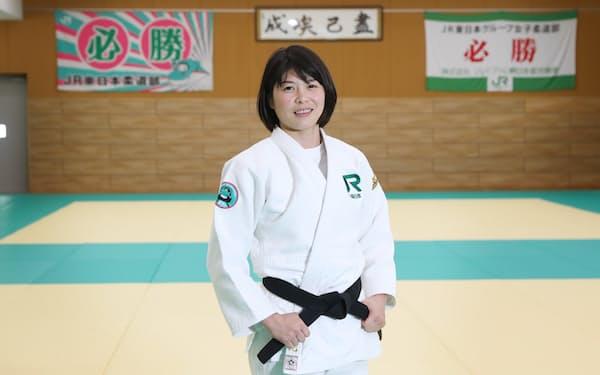 福見友子は子どものころから「五輪で金メダル」と思っていた(2019年10月、東京都品川区のJR東日本柔道部柔道場)