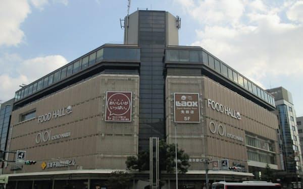 京都マルイは京都市内の中心部に位置する(京都市)