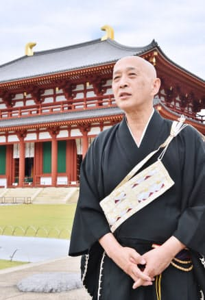 森谷英俊・興福寺貫首 もりや・えいしゅん 群馬県出身。1974年、法政大法卒。公務員などを経て80年入寺。