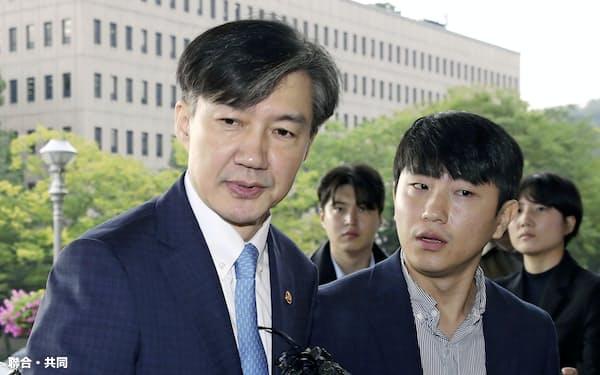 韓国の曺国前法相=聯合・共同