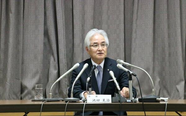 広島銀行の池田晃治会長が広島商工会議所の会頭に新たに就任した(1日、広島市)
