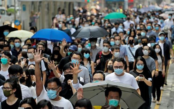 香港デモは5カ月近く続いている=ロイター