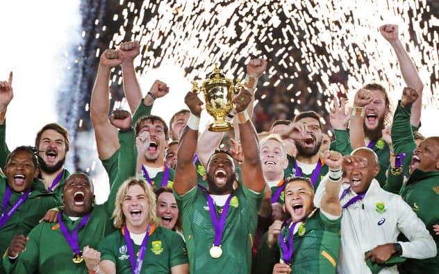 南アフリカが優勝 イングランドに32-12