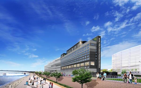 住友不動産は羽田空港に直結した大型ホテルなど東京湾岸エリアで拠点を増やす(完成イメージ)