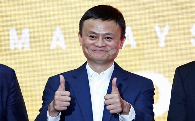一線から退くと表明したアリババグループ創業者の馬雲(ジャック・マー)会長=ロイター