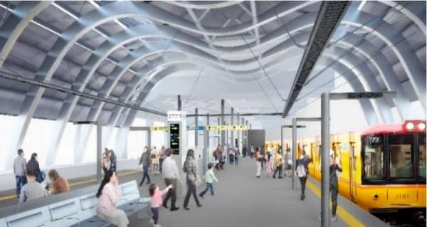 東京メトロは1月に銀座線渋谷駅新駅舎の供用を始める(イメージ)=東京メトロ提供