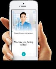 アプリを通じてAIが可能性の高い病気を推定する