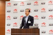 味の素AGFの品田英明社長は鹿児島県の徳之島で生産した国産コーヒーを2022年に発売すると発表した