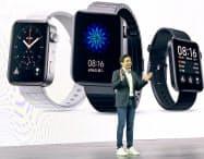 小米の雷軍CEOはスマートウオッチの参入を発表した(5日、北京)