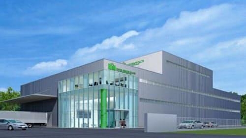 岡山県に工場を建設する(完成イメージ)