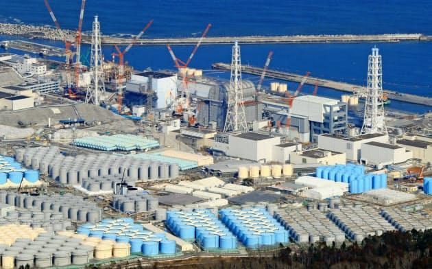 廃炉作業が続く福島第1原発(2019年3月)