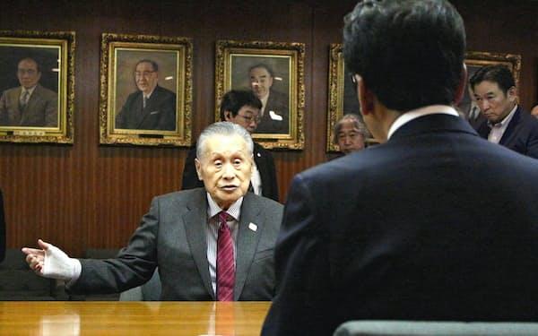 大会組織委の森喜朗会長は、札幌市の秋元克広市長と会談した
