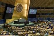 国連総会は対キューバ制裁解除を求める決議を採択した=国連提供