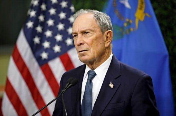 大統領選への出馬を検討しているブルームバーグ元ニューヨーク市長=AP