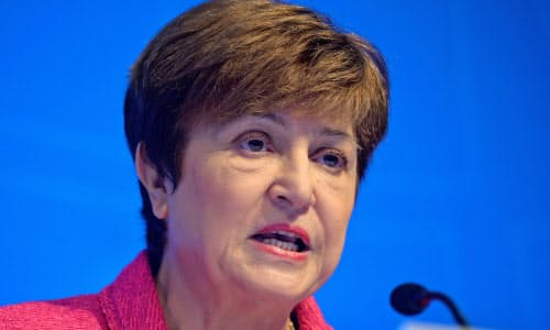 IMFのゲオルギエバ専務理事=ロイター
