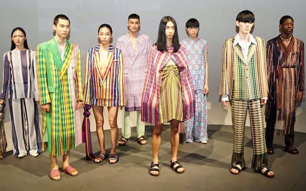 ナイジェリア出身のデザイナー、ケネス・イゼさんの展示会(10月16日、東京都港区)