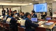 原子力災害を想定した防災訓練が実施された(8日、新潟県庁)
