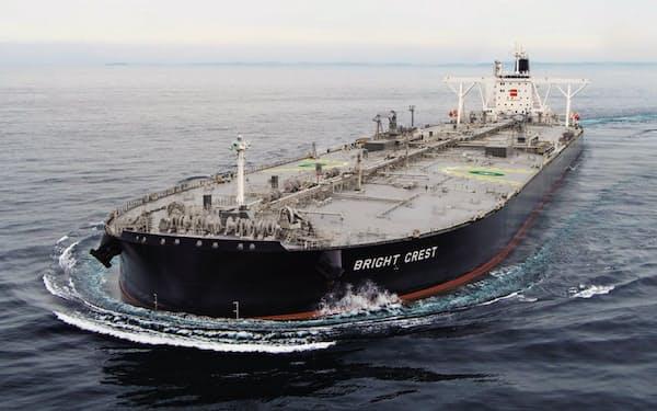 造船事業は海外との競争による採算悪化に苦しむ(三井E&Sが建造した大型タンカー)