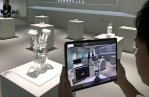 ベンチャーラボでは中核技術を映像で紹介する展示室も設けた(東京都港区)
