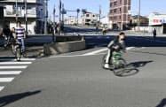 大植良太郎被告が護送中の車両から逃走した現場付近(9日午前、大阪府東大阪市)=共同