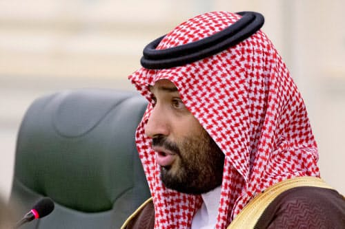 サウジの改革の旗振り役であるムハンマド皇太子(10月14日、リヤド)=ロイター