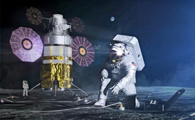 米国はアルテミス計画で2024年に宇宙飛行士の月面着陸をめざしている(NASA提供)