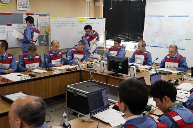 本店に設けた特別非常災害対策本部(11日、札幌市)