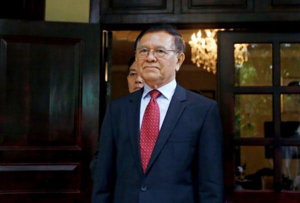 カンボジアの野党指導者ケム・ソカ氏=ロイター