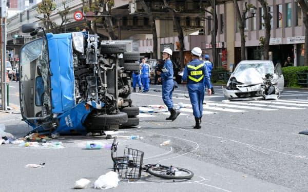 乗用車が暴走し母子が死亡した事故(4月、東京都豊島区)