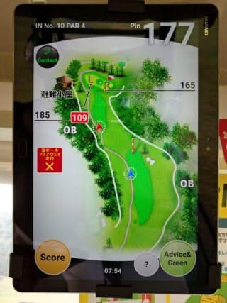 ゴルフGPSナビはピンまでの距離などいろんなデータをプレーヤーに提供してくれる