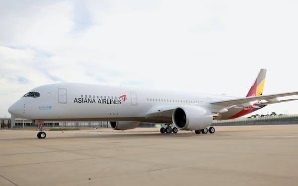 錦湖産業が現代産業開発などに優先交渉権を付与すると発表した=アシアナ航空提供