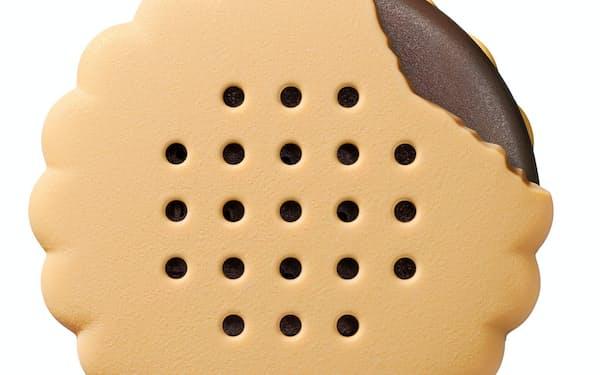 バンダイが2020年春に発売予定のスピーカー玩具「Bischa(ビスチャ)」。ビスケット型のスピーカーでスマホと連動する