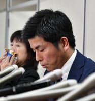 書類送検を受けて記者会見した池袋暴走事故の遺族男性(12日、東京・霞が関)