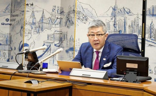 田村社長は「新しいビジネスモデルを創造したい」と強調した