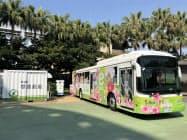 住商は成長分野と位置付ける電動車で事業領域を広げる(RAC社製の電動バス)