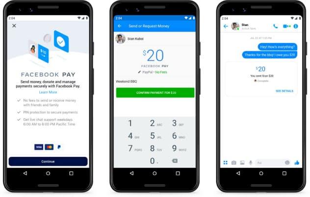 「フェイスブックペイ」によりメッセンジャーなどのアプリを通じた決済・送金サービスを使いやすくする