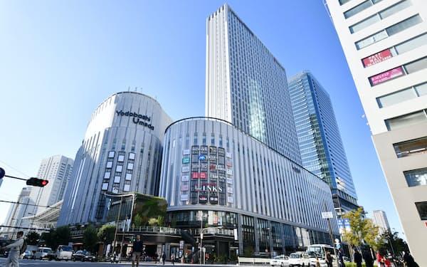 「ヨドバシ梅田タワー」内の商業施設「リンクスウメダ」は16日に開業する(13日午前、大阪市北区)