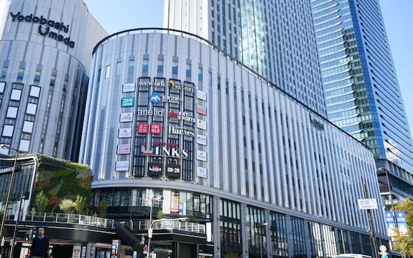 16日に開業する「ヨドバシ梅田タワー」内の商業施設「リンクスウメダ」(13日午前、大阪市北区)