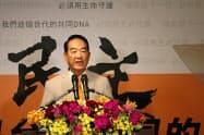台湾の次期総統選への出馬を表明した親民党の宋楚瑜主席(13日、台北市内)