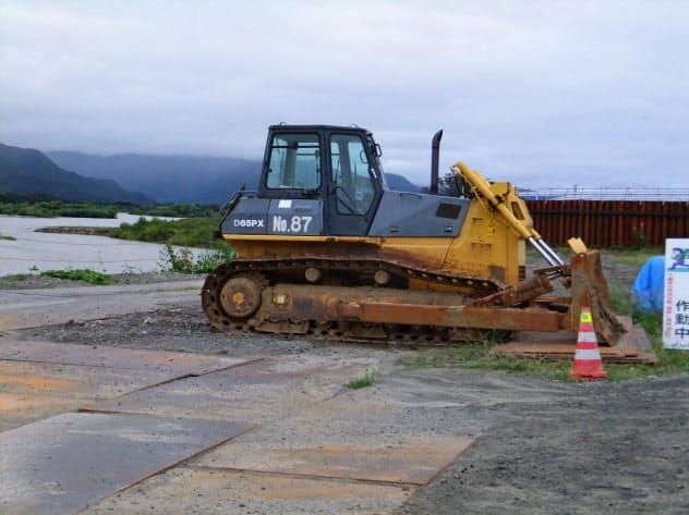 千曲川では河川改修が進んでいたが(長野市内、2018年9月)